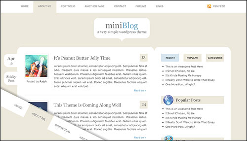 Mini Blog Free Workdpress theme